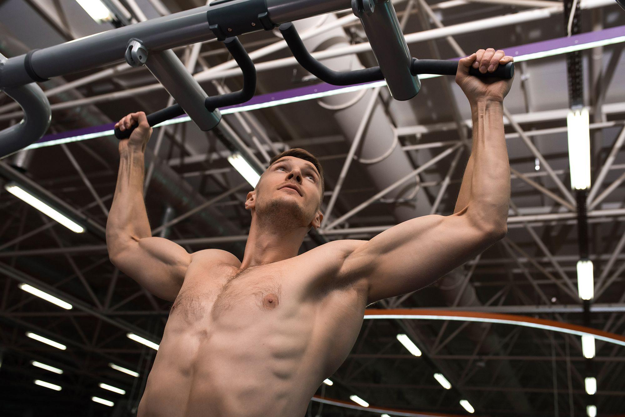 strength training in modern gym